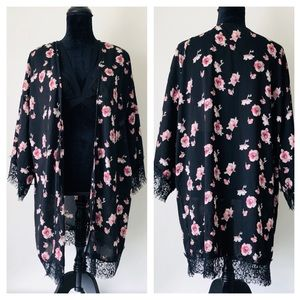 Honey Punch Floral Lace Cardigan